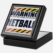 Warning: Netball Keepsake Box