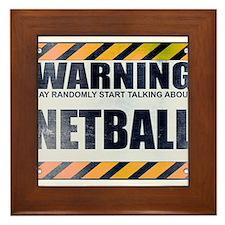 Warning: Netball Framed Tile