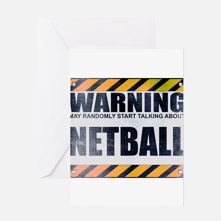 Warning: Netball Greeting Card