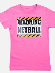 Warning: Netball Girl's Dark Tee