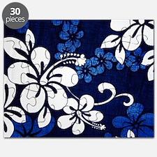 blue hibiscus BG Puzzle