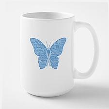 Word Butterfly in Light Blue Mug