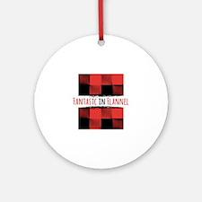 Fantastic Flannel Round Ornament