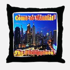 Come to Manila Throw Pillow