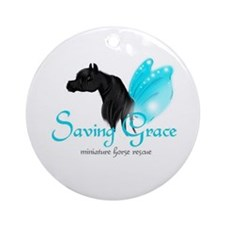 Saving Grace Miniature Horse Rescue Round Ornament