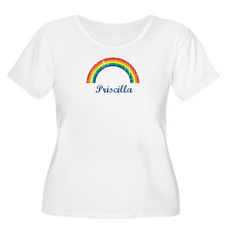 Priscilla vintage rainbow Women's Plus Size Scoop
