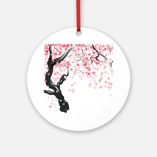 Japanese Cherry Tree Round Ornament