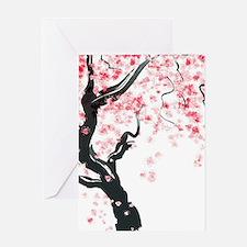 Japanese Cherry Tree Greeting Cards