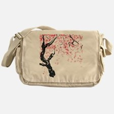 Japanese Cherry Tree Messenger Bag