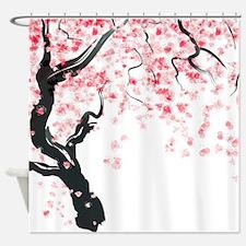 Japanese Cherry Tree Shower Curtain