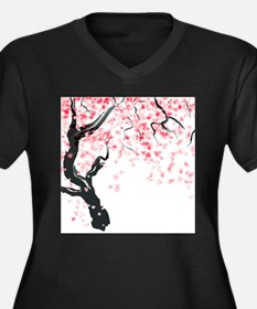 Japanese Cherry Tree Plus Size T-Shirt