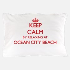 Keep calm by relaxing at Ocean City Be Pillow Case