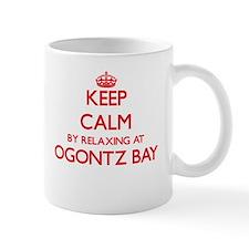 Keep calm by relaxing at Ogontz Bay Michigan Mugs