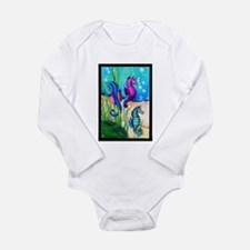 Three Water Horses Body Suit
