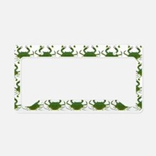 Blue Crab Pattern License Plate Holder