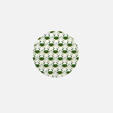 Blue Crab Pattern Mini Button