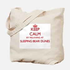 Keep calm by relaxing at Sleeping Bear Du Tote Bag