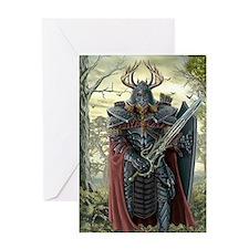 viking warrior Greeting Cards