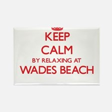 Keep calm by relaxing at Wades Beach New Y Magnets