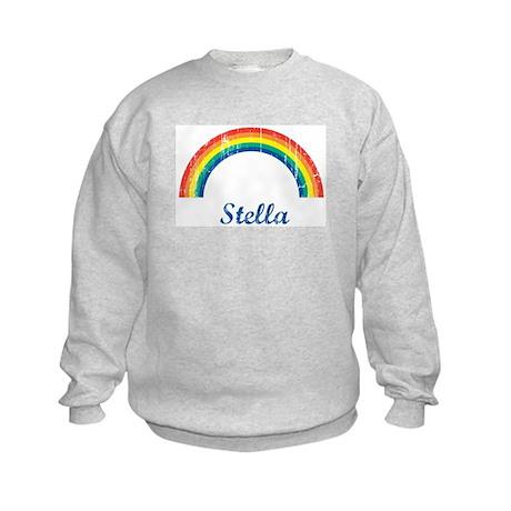 Stella vintage rainbow Kids Sweatshirt