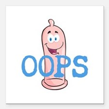 """Oops Square Car Magnet 3"""" x 3"""""""