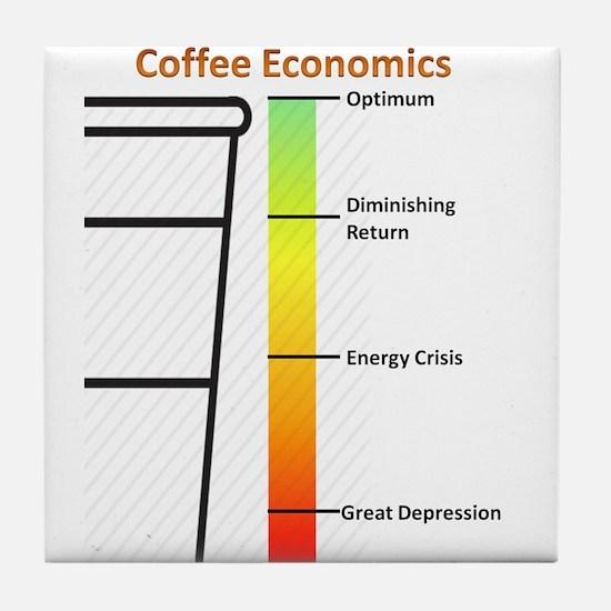 Cute Economics Tile Coaster