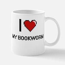 I love My Bookworm digital design Mugs