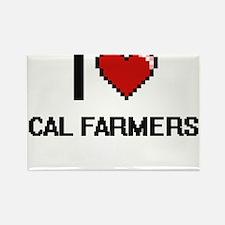 I love Cal Farmers digital design Magnets