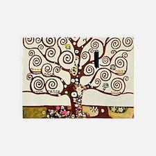 Klimt tree of life 5'x7'Area Rug
