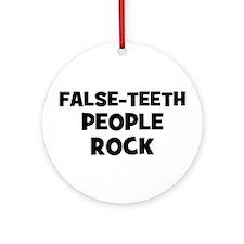 False-Teeth People Rock Ornament (Round)