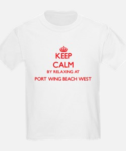 Keep calm by relaxing at Port Wing Beach W T-Shirt