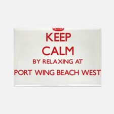 Keep calm by relaxing at Port Wing Beach W Magnets