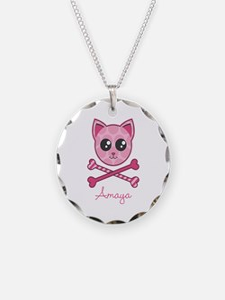 Kitty Crossbones Necklace