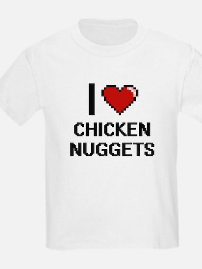 I love Chicken Nuggets digital design T-Shirt