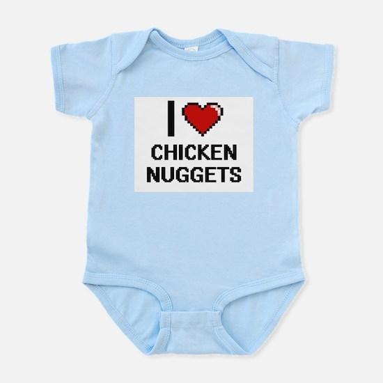 I love Chicken Nuggets digital design Body Suit