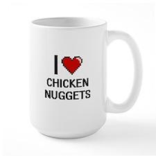 I love Chicken Nuggets digital design Mugs