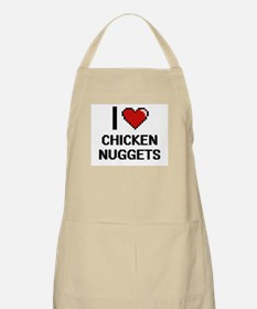 I love Chicken Nuggets digital design Apron