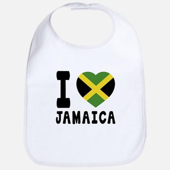 I Love Jamaica Bib