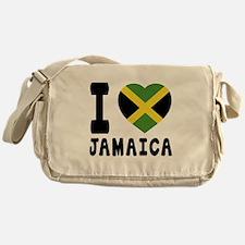 I Love Jamaica Messenger Bag