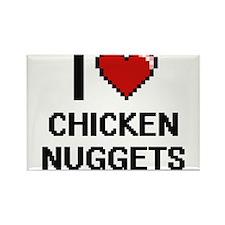 I love Chicken Nuggets digital design Magnets
