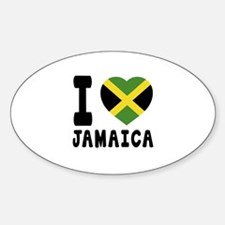 I Love Jamaica Sticker (Oval)