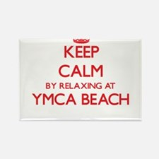 Keep calm by relaxing at Ymca Beach Wiscon Magnets