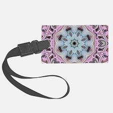 girly pink floral mandala Luggage Tag