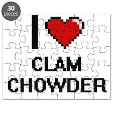 I love Clam Chowder digital design Puzzle