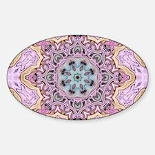 pink bohemian floral mandal Decal