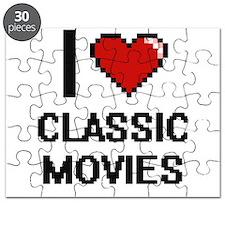 I love Classic Movies digital design Puzzle