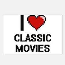 I love Classic Movies dig Postcards (Package of 8)