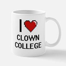I love Clown College digital design Mugs