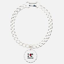 I Love Jordan Charm Bracelet, One Charm