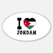 I Love Jordan Decal